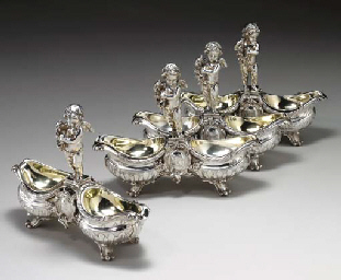 A SET OF FOUR FRENCH SILVER DO