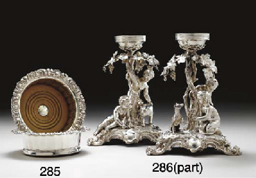 TWO GEORGE IV SILVER WINE COAS