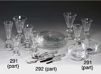 A STEUBEN GLASS CRESTED PART S