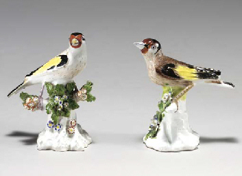 TWO DERBY MODELS OF FINCHES