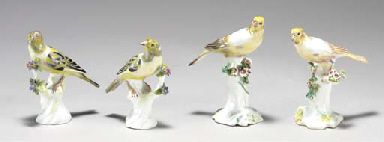 A PAIR OF DERBY MODELS OF CANA