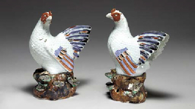 A PAIR OF JAPANESE HENS
