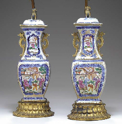 A PAIR OF CHINESE EXPORT COBAL