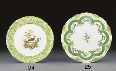 A Sevres ornithological plate,