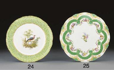 A Sevres circualr lobed plate