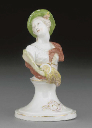 A Nymphenburg bust emblematic