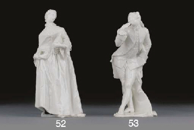 A Nymphenburg white figure of Donna Martina from the Commedia dell'Arte Series