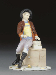 A Nymphenburg figure of a cheese-vendor
