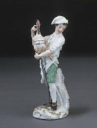 A Meissen figure of a Rotissie