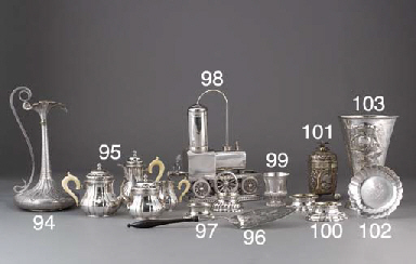 A Pair of Swedish Silver Trenc