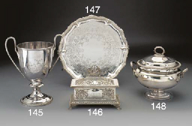 A Silver-Plated Soup Tureen, C