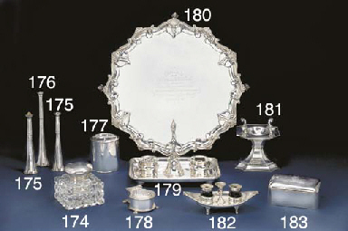 A George V Silver Inkstand