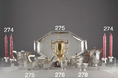 A Five-Piece Modern Silver Tea