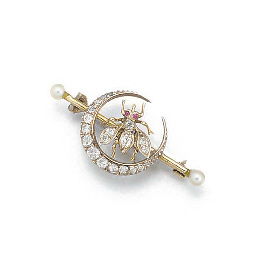 A late 19th century diamond be