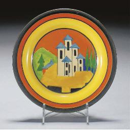 An Applique Lucerne Plate