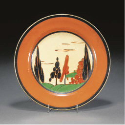 A TREES AND HOUSE PLATE