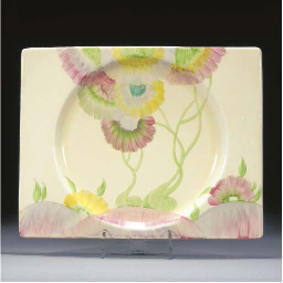 A PINK PEARLS BIARRITZ PLATE
