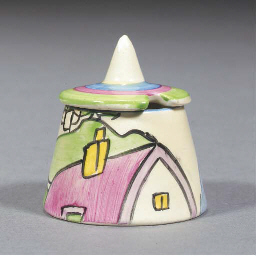 A PINK ROOF COTTAGE CONICAL MU