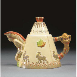 A TEEPEE TEAPOT AND COVER