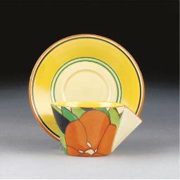An Orange Gardenia Conical Cup