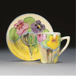 A DELECIA PANSY LYNTON CUP AND