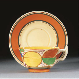A MELON ATHENS CUP AND SAUCER