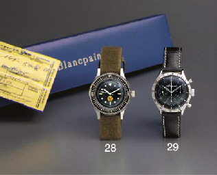Blancpain. A rare stainless st