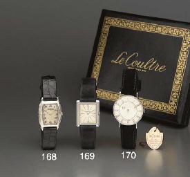 LeCoultre. A 14K white gold an