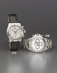 Rolex. An 18K  white gold self