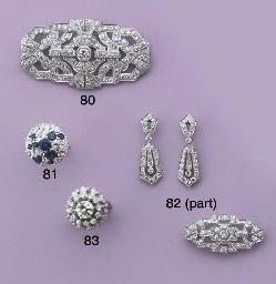 AN ART DECO FOUR PIECE DIAMOND