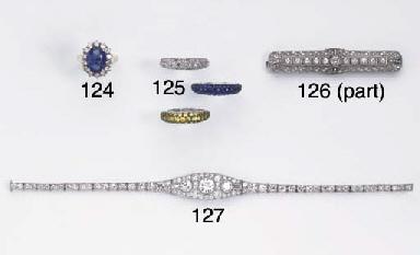 A DIAMOND LINE BRACELET AND A