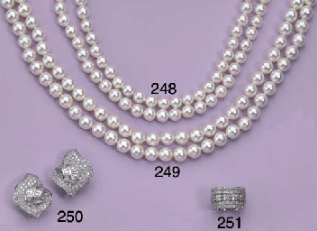TWO STRANDS OF CULTURED PEARLS