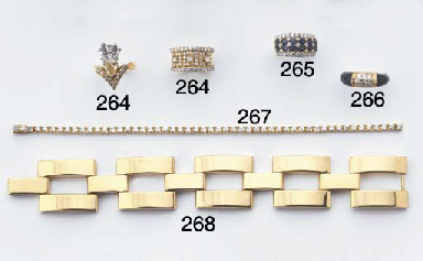 A LAPIS LAZULI AND DIAMOND RIN