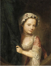 Portrait of a young girl, half