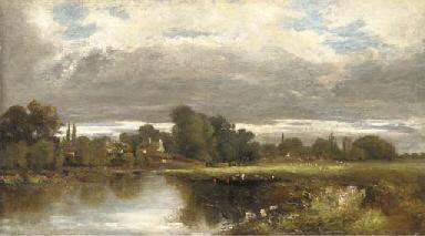 View towards Hampton Court fro
