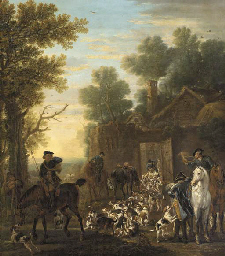 A hunting scene showing the re