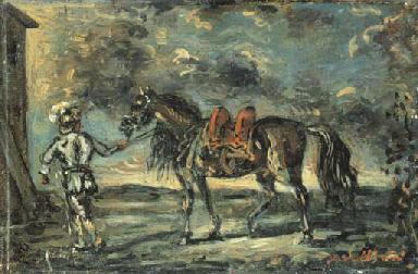 Cavallo con palafreniere