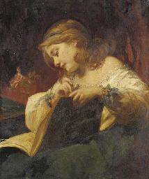 Portrait of a girl, three-quar