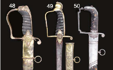 TWO GEORGIAN OFFICER'S SABRES