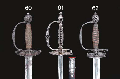 TWO STEEL-HILTED SMALL-SWORDS