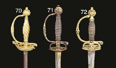 A FRENCH SMALL-SWORD WITH CHIS