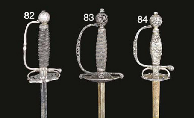 A RARE ENGLISH SILVER-HILTED S