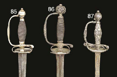 TWO SILVER-HILTED SMALL-SWORDS