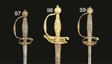 A FINE SMALL-SWORD WITH GOLD-E