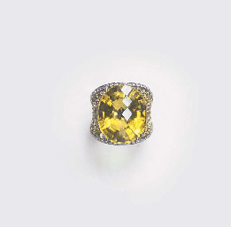 A LEMON CITRINE, YELLOW SAPPHI