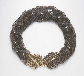 A MULTI-STRAND SMOKY QUARTZ AN