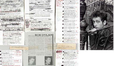 DYLAN, Bob (b.1941). Typed man