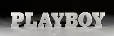 PLAYBOY. Letters used in Playb