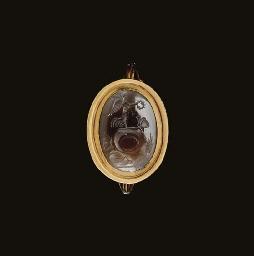 A ROMAN AGATE RING STONE