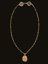 A BYZANTINE GOLD PENDANT AND C